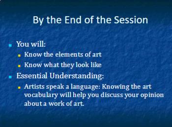 Elements of Art PowerPoint
