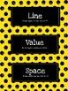 Elements of Art & Principles of Design Art Word Wall (Yellow & Black)