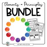 Elements of Art Principles of Design BUNDLE