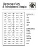 Elements of Art & Principles of Design Word Search