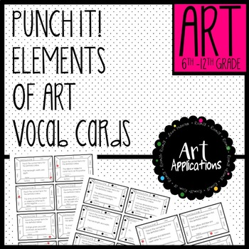 Elements of Art Punch-it! Term Cards