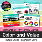 Elements of Art Review Game: Color and Value (Interactive
