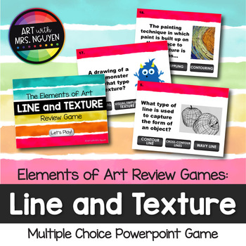 Elements of Art Review Game: Line and Texture (Interactive PowerPoint Art Game)