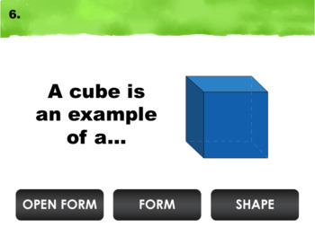 Elements of Art Review Game: Shape, Form, and Space (Interactive PPT Art Game)
