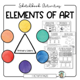 Elements of Art Worksheets for Sketchbook Activities