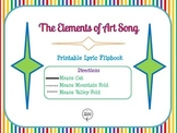 Elements of Art Song Lyric Printable Minibook