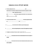 Elements of Art Study Guide and Test with Answer Key