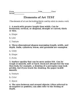 Elements of Art Test