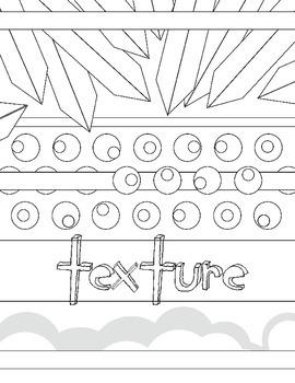 Elements of Art: Texture Coloring Book Art Review Handout