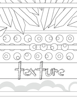 Elements of Art: Texture Coloring Book Art Review Handout