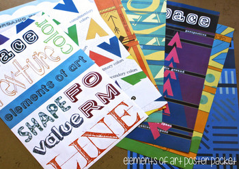 Elements of Art, Texture, Modern, Printable Poster: Visual Art Classroom