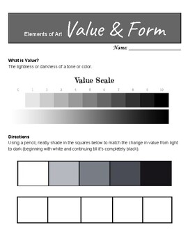 Elements of Art: Value & Form