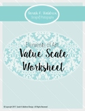 Elements of Art: Value Scale Worksheet
