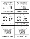 Vocabulary 3 Part Montessori Cards - Elements of Art