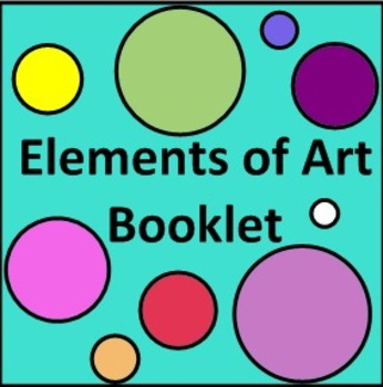 Elements of Art Vocabulary Booklet