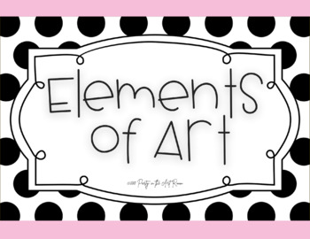 Elements of Art Vocabulary Posters