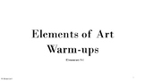 Elements of Art Warm Ups 3-6