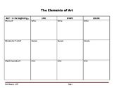 Elements of Art Worksheet