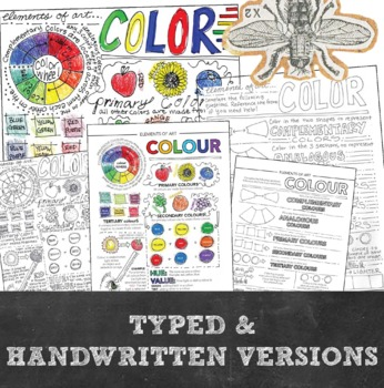 Elements of Art Worksheet Packet: 7 Instructional Handouts for Visual Art
