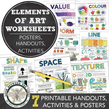 Elements Of Art Worksheet Packet 7 Instructional Handouts For