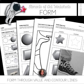 Elements of Art Worksheet Packet 64 Sheets - Instructional Sheets & Mini-lessons