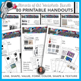 Elements of Art Worksheets Bundle-64 Sheets-Instructional Sheets & Mini-lesson