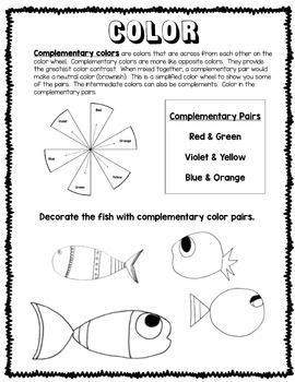 Elements of Art Worksheets (Printable Sketchbook for Early Finishers)