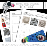 Elements of Texture Worksheets - Elements of Art Mini-Lessons