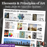 Elements of Art and Principles of Design - 2 Poster Bundle