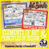 Elements of Art and Principles of Design Handout Bundle fo
