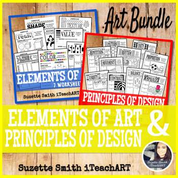 Elements of Art and Principles of Design Handout Bundle for Middle & High school