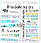 Elements of Art and Principles of Design Modern Printable Posers & Headers