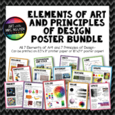"Elements of Art and Principles of Design Poster Bundle (8.5""x11"" and 18""x24"")"