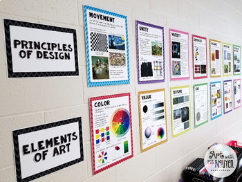 elements of art and principles of design poster bundle 8 5 x11 and