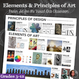 Elements of Art and Principles of Design Poster Set - 2 Posters