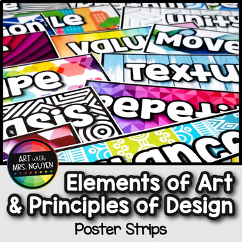 Elements of Art and Principles of Design Poster Strips