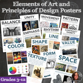 Elements of Art and Principles of Design Posters - 14 Posters