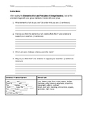 Elements of Art and Principles of Design ACEIT Worksheet