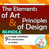 Elements of Art and Principles of Design - Worksheet Bundle