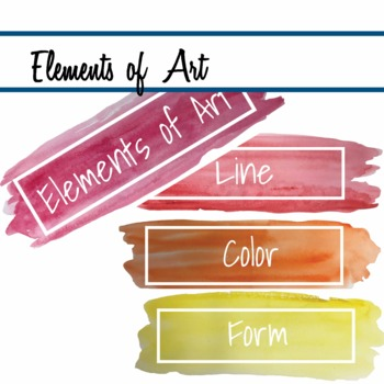 Elements of Art in Watercolor  mini posters