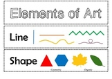 Elements of Art mini posters