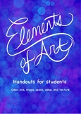 Elements of Art: worksheets