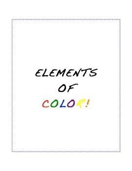 Elements of Color Worksheet