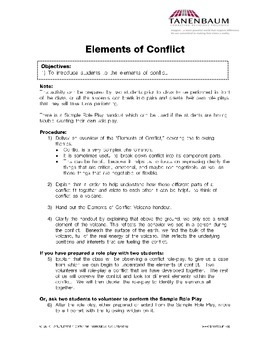 Elements of Conflict: overview and role-play