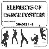 Elements of Dance Concepts Poster Set (Grades 1-8)
