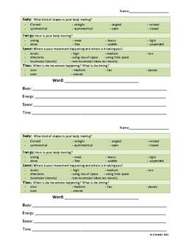 Elements of Dance Handout
