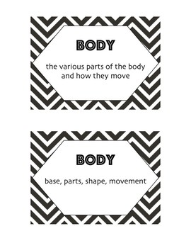 Elements of Dance Printable