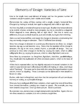 Elements of Design: Bundle of Lessons