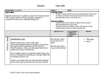 Elements of Design: Lines - 3 Part Lesson