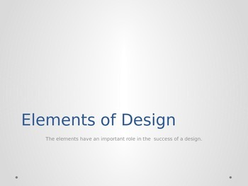 Elements of Design Power Point